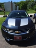 Black Impala W/ Grey Hood Rally Stripes Decals