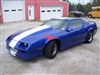 Blue Camaro w/ red Hash Mark Fender Stripe