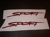Set of 2 Sport door hood or tailgate decals