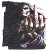 Middle Finger  Grim Reaper Skull  Full color Graphic Window Decal