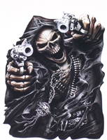 Assassin Grim Reaper Skull  Full color Graphic Window Decal