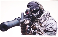 Army Marine Assassin Sniper Full color Graphic Window Decal