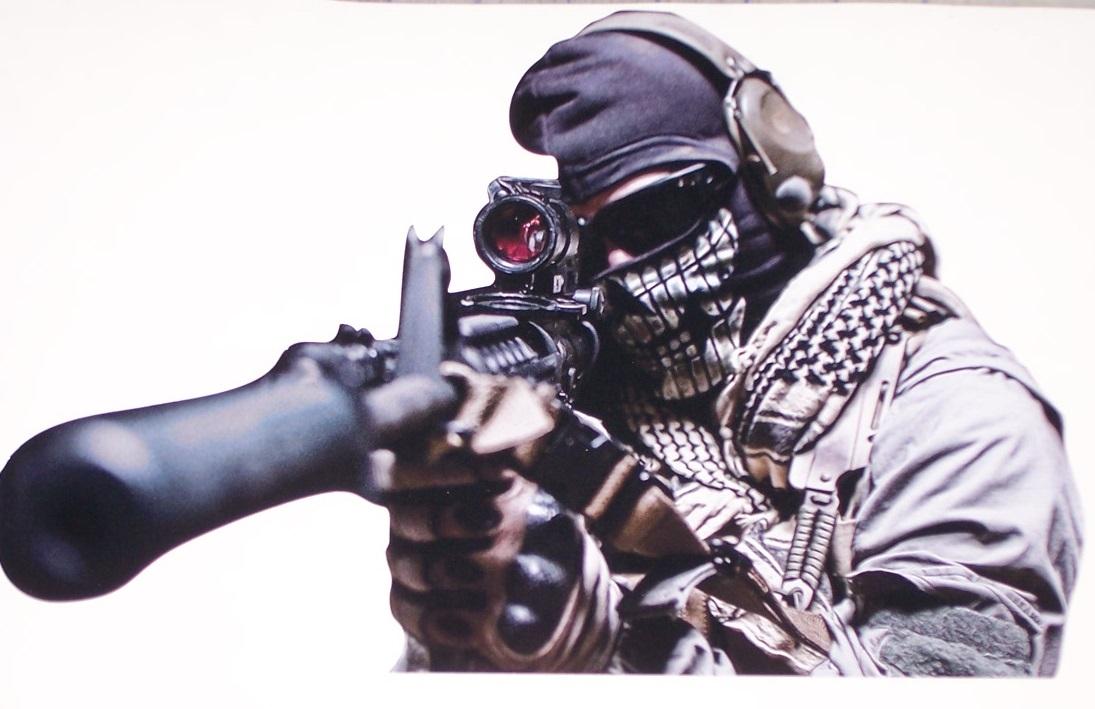 Army Marine Assassin Sniper Skull Full Color Graphic