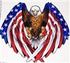 American Flag Wing Eagle Full color Graphic Window Decal Sticker