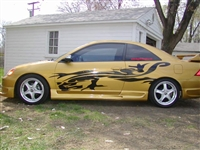 Gold Car w/ Dragon Gargoyle Side Graphics Set