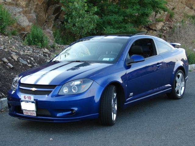 Blue cobalt w white 8 quot rally stripes 2