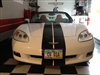 "White Corvette w/ Black 10"" Plain Rally Stripes Set"
