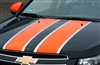 Black Chevy Cruze w/ Orange Rally Stripe Set