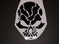 Tribal Skull Hood or Window Decal #1