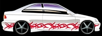 "Tribal #2 side graphics set 12"" wide X 144"" long Fit all Cars and Trucks"