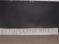 "Eliminator Boats Decal 5"" Tall X 42"" long Decal"