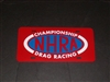 NHRA Drag Racing Vanity Plate Red plate Blue white logo