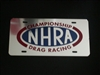 NHRA Vanity License plate Polished Stainless!