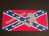 Southern Style Confederate Rebel Flag License Vanity Plate #1