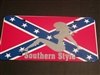 Southern STYLE Confederate Rebel Flag License Vanity Plate