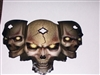 3 Tribal Skull W/ Gold Eyes FULL COLOR Hood Tailgate Or Trailer printed Graphic decal