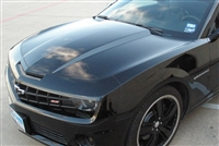"Black car w/ 3"" Hood Cowl accent Stripes"