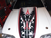 Adrenalin Rush Cowl Hood Stripe Graphic Decal FULL COLOR