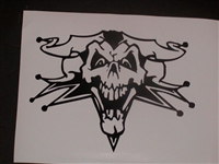 Evil Clown Skull Hood Decal