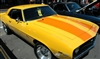 Yellow Chevy w/ Orange Outlined Rally Stripes