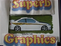 "Ripped Graphics 54b 2 colors! Size 12""X114"""