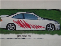 "Ripped side graphics set 9a Size 22"" wide X 100"" long"