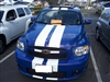 "Blue HHR w/ White 8"" Plain Rally Stripes Set"