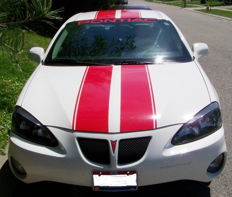 Pontiac grand prix 10 rally stripes with 5 space and 5 stripe to side