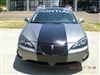 "Gray grand Prix w/ Black 24"" Rally Stripes set"