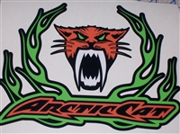 "Arctic Cat Flame 9.5""x7"" Decal"