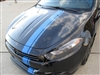 "Black Dodge Dart w/ 6"" Offset Rally Stripe Set"