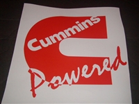Cummins Power Window Decal