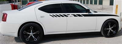White Dodge Charger w/ Black Fender/Door stripe