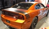 Orange Dodge Charger w/ Black Trunk Stripe