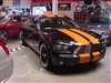 "Black Dodge Charger w/ Orange 10"" Rally Stripes"