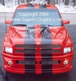 Dodge Ram 10 Quot Plain Rally Stripe Set