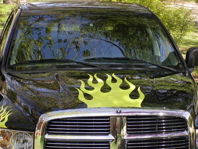 Flame Hood Graphic Decal