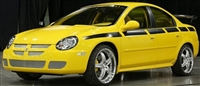 Yellow Dodge w/ Black Side 74a Side stripe Graphic Decal set