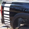 Black Truck w/ White Fadeout rear Bed stripes