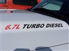 6.7L TURBO DIESEL Logo Hood Decals