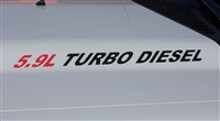 5.9L TURBO DIESEL Logo Hood Decals