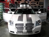 "Black Dodge Magnum w/ Gold 10"" Rally Stripes"