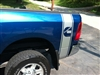 Blue Dodge w/ Cummins Diesel Logo 1 Bed Side Stripes (Sold as a Pair)