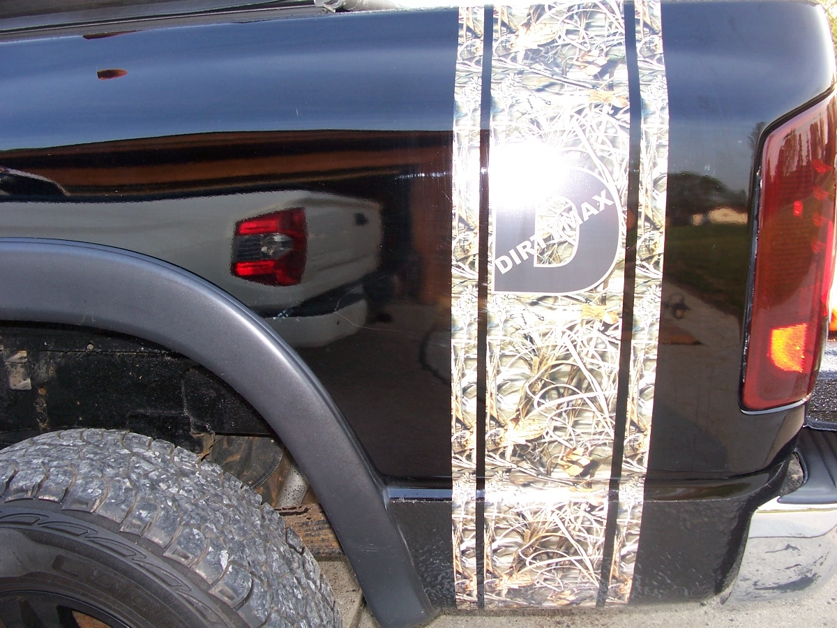 Real Tree M Camo DURAMX Bed Side Stripes Sold As A Pair - Chevy duramax diesel decals