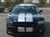 "Black Dodge Charger w/ Silver Rally Stripes 10"" wide total"