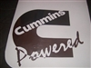 Cummins Powered Window Decal