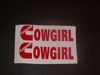 Pair of Cummins Cowgirl logo Window Decals
