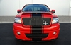 "red Ford F-150 w/ Black 20"" Wide Center Rally Stripe"