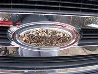 truck Grill w/ rebel Flag Power Stroke Cover