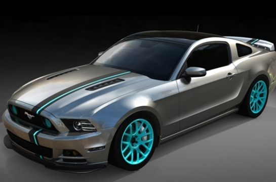 Mustang 2 color offset rally stripe decal set
